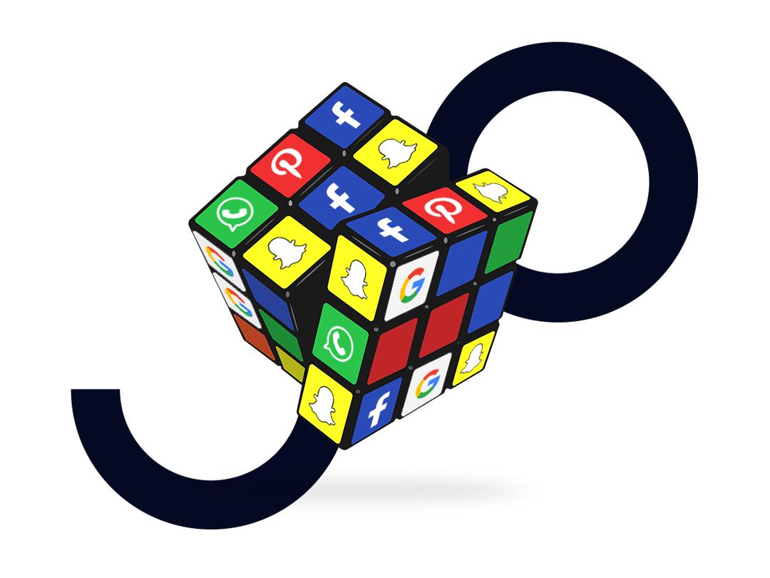 social media strategie rubiks kubus